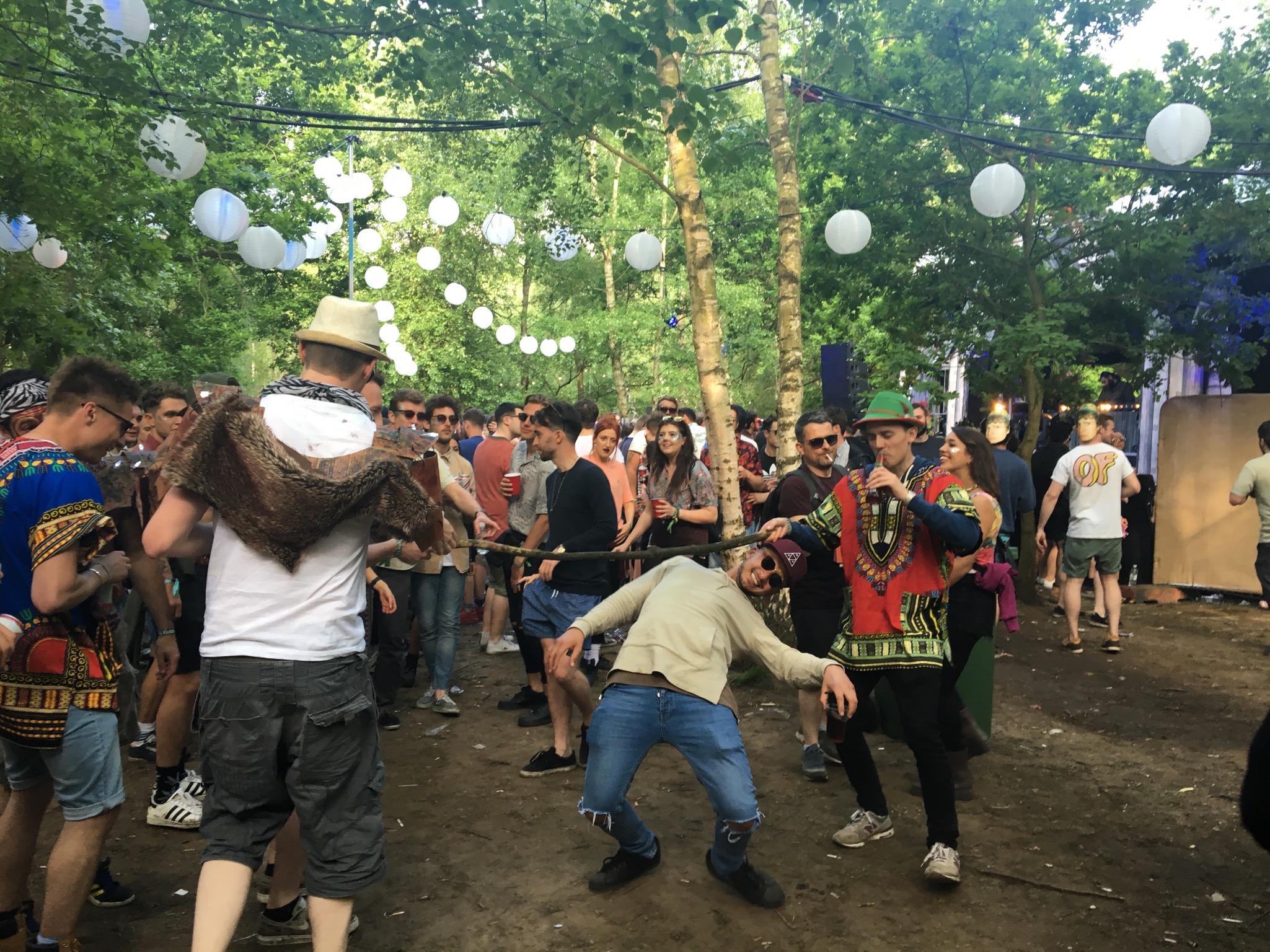 Limbo dancing tribe