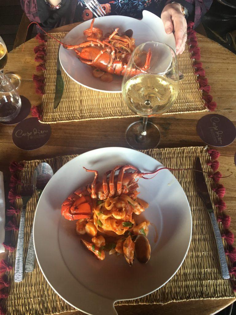 lunch at Carpe Diem beach club