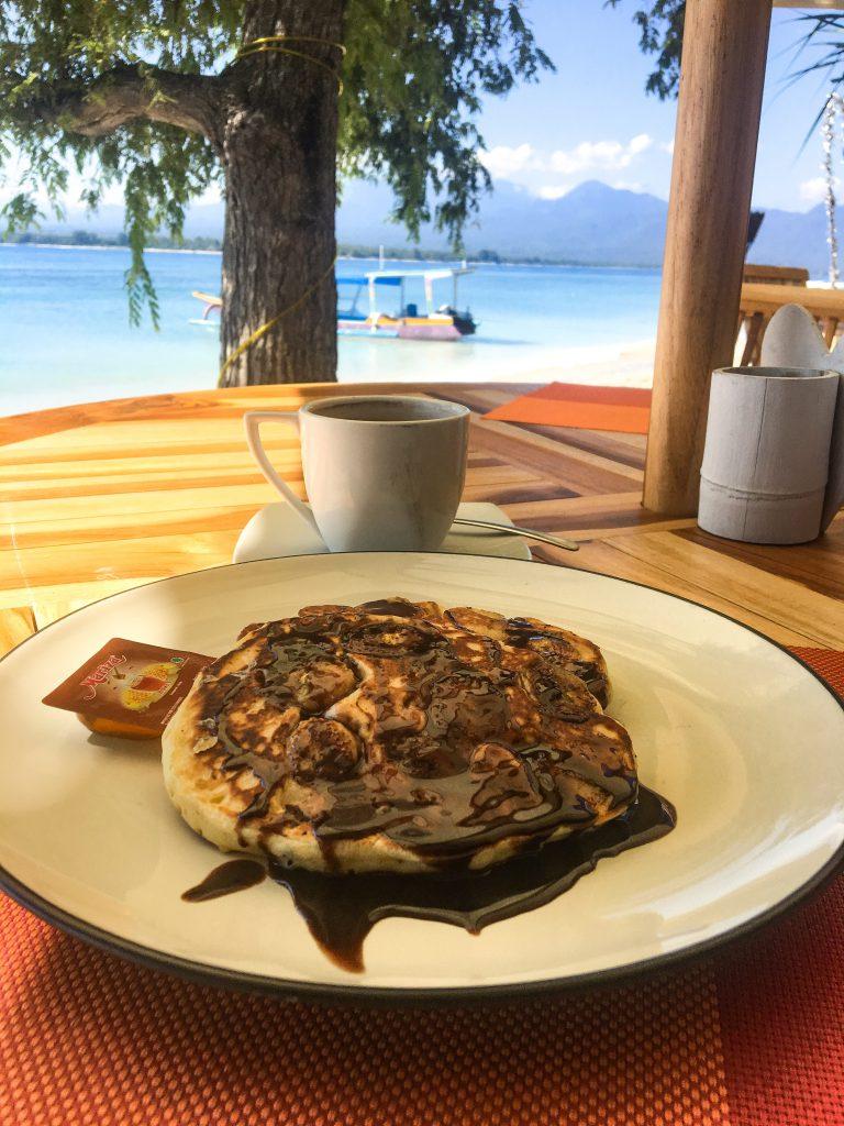 banana pancakes Gili islands