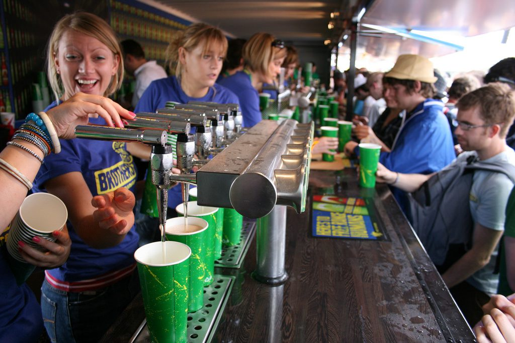 Brothers bar Glastonbury Festival